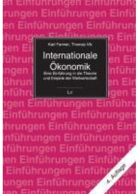 Obálka knihy  Internationale Ökonomik od Vlk Thomas, ISBN:  9783825884338